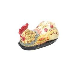 Rooster butter dish