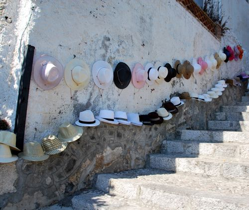 hats or chapeaux in Sicily (c) Kristin Espinasse