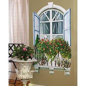 Paris Window Mural