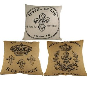 All Three French Square Pillows