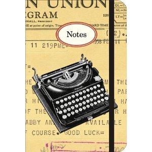 Vintage Typewriter Cavallini Small Notebook