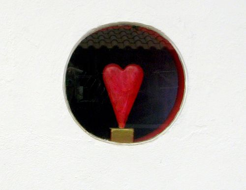 Heart in a Window (c) Kristin Espinasse