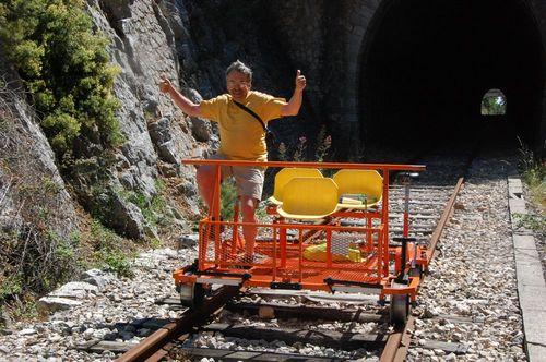 Chris enjoying rush out of tunnel