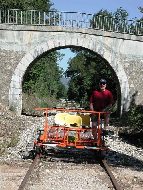 Gary stoking the rail