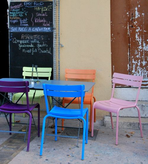Popsicle chairs (c) Kristin Espinasse