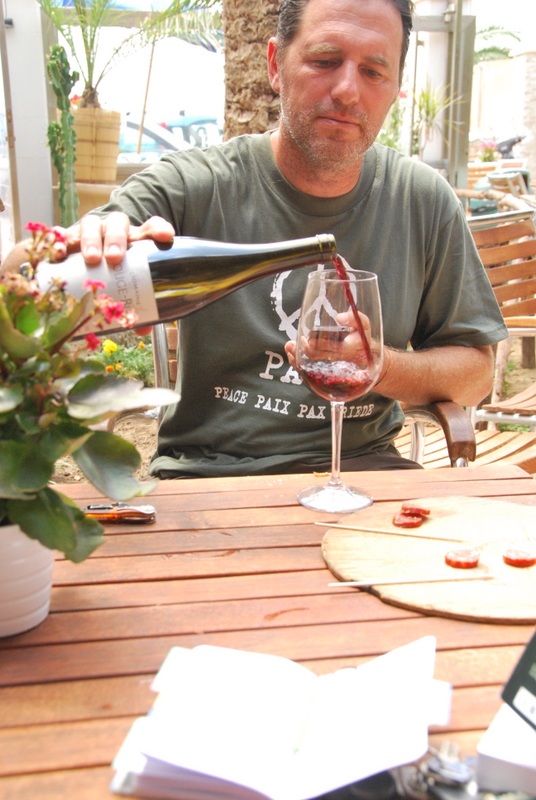 Jean-marc pouring wine