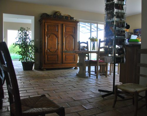 paver tiles, tomettes, floor French farmhouse Provence