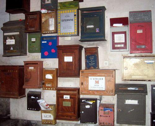 Marseilles mailboxes (c) Kristin Espinasse boites à lettres marseillaises