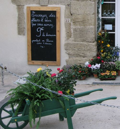 Flower shop in Camaret (c) Kristin Espinasse