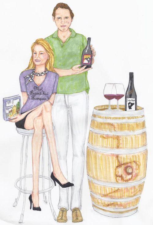 Kristi and Chief Grape - Painting by Dana Constance Thomas
