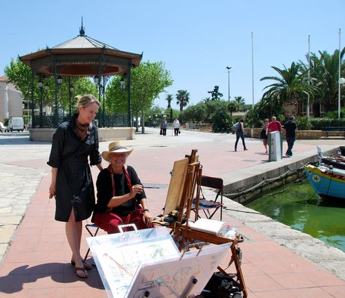 L'artiste in Sanary (c) Kristin Espinasse
