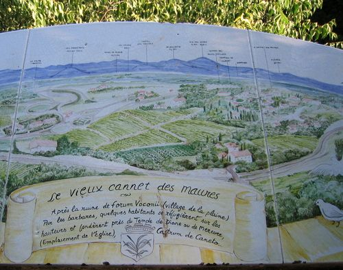 Map of vieux cannet and surroundings (c) Kristin Espinasse