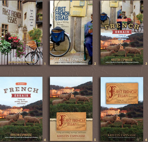 """First French Essais"" book covers by TLC Graphics"