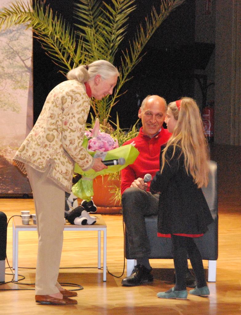 Jane Goodall translator cow