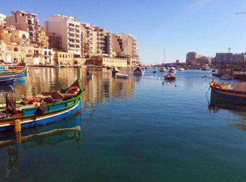 St Juliens bay in Malta