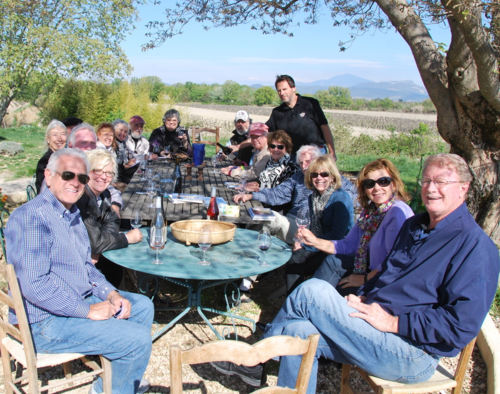Wine tasting at Domaine Rouge-Bleu