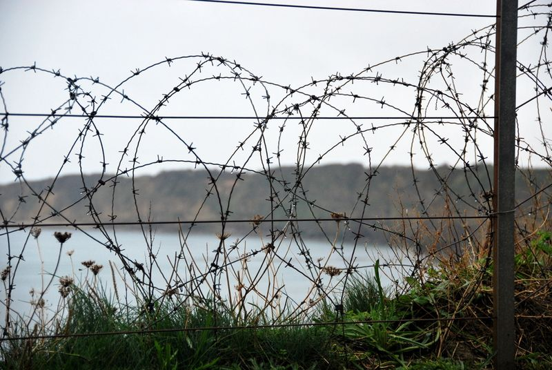 Omaha beach barbed wire