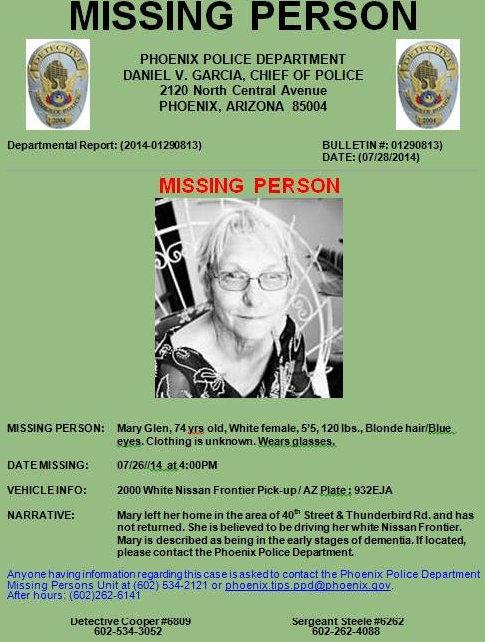 Avis de recherche missing persons