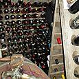 Part of Jean-Marc's wine cellar