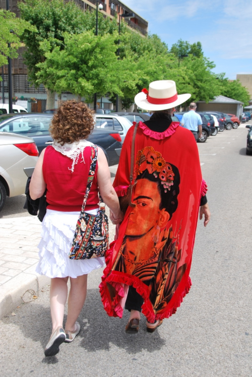 Mom's Frida Kahlo cape