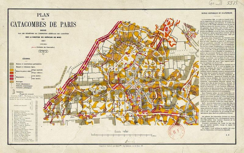 map of paris catacombs