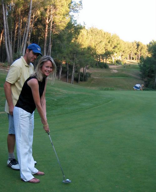 Jean-Marc and Kristi-golfing