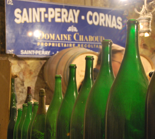 saint-peray cornas domaine chaboud wine barrel Les bouteilles (c) Kristin Espinasse