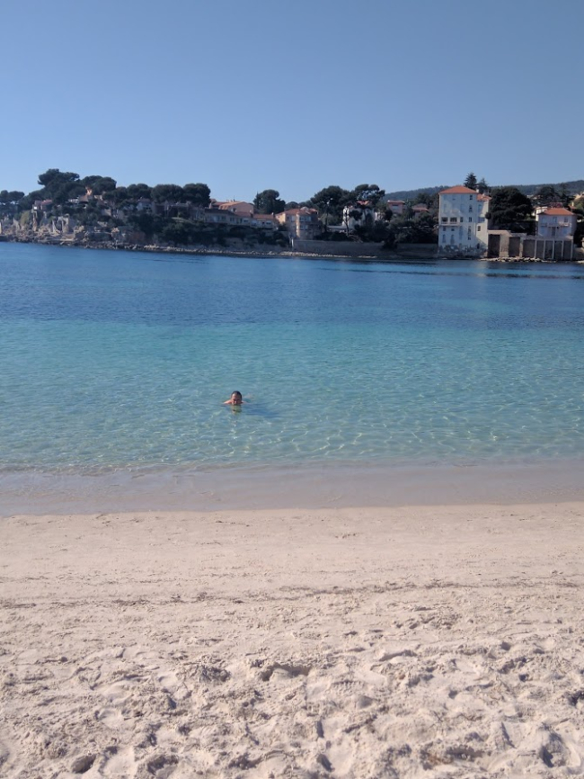 Jean-marc swimming bandol France renecros sandy beach