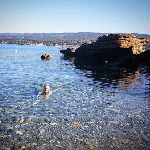 Kristi swimming