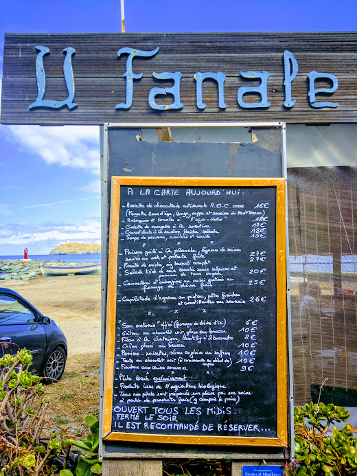 U Fanale restaurant at the port of Barcaggio