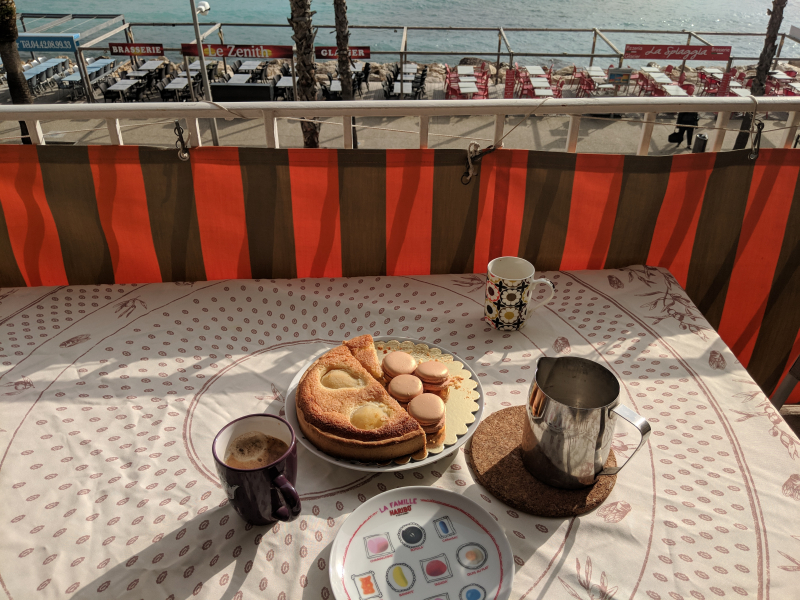 Macarons and pear tart made by christina la ciotat sea mediterranean