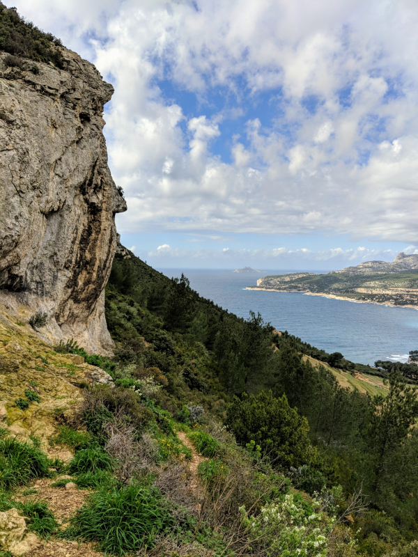 Cliff near cassis france