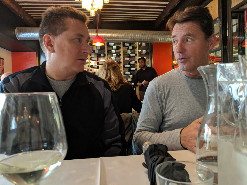 Brian and jean-marc at Restaurant la Table in Cassis