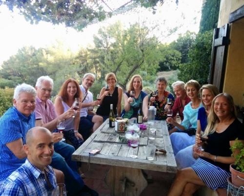winetasting at Mas Des Brun