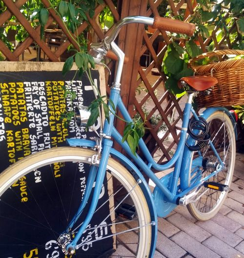 Bike and menu