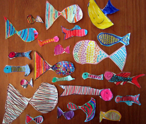 April Fools and paper fish for Poisson d'Avril in France tradition (c) Kristin Espinasse