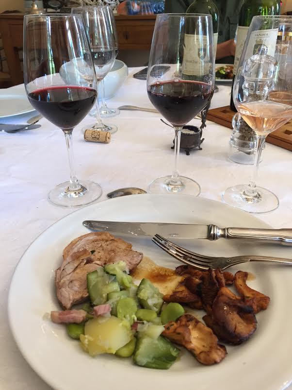 Favas-girolles-chateau-de-pibarnon-wines