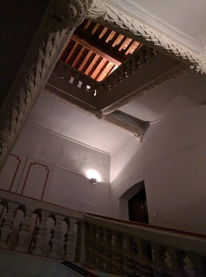 Plastered stairwell