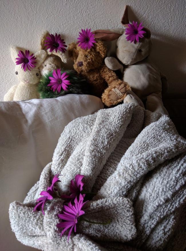 Doudou robe de chambre flowers