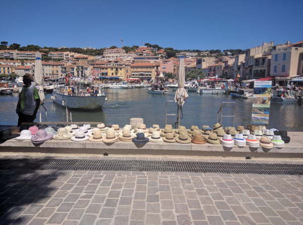 Hat or chapeau for sale in Cassis France