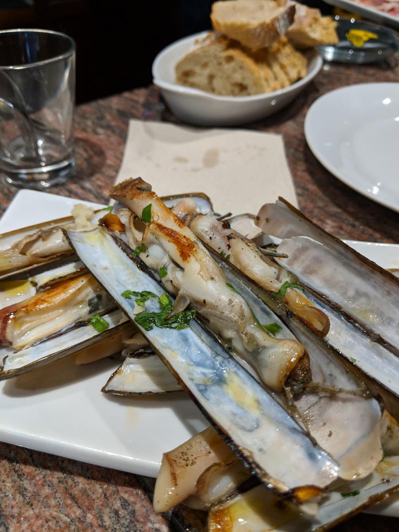 Le couteau de mer or solen or razor clams