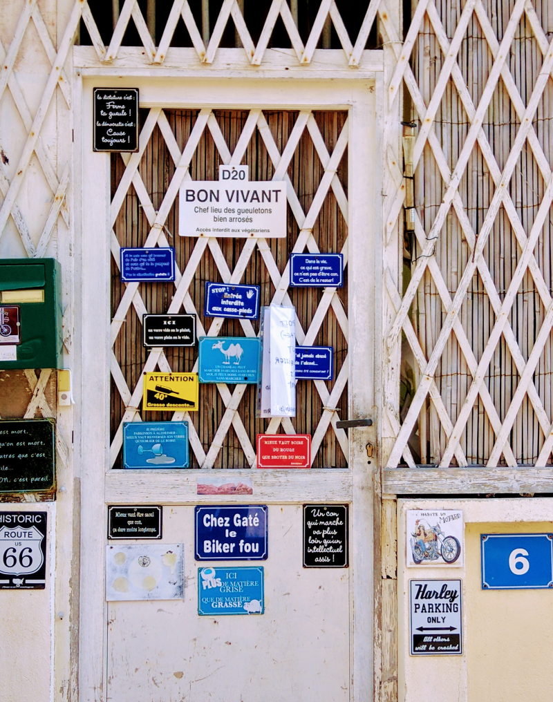 French door in Les Goudes fishing village Marseilles France