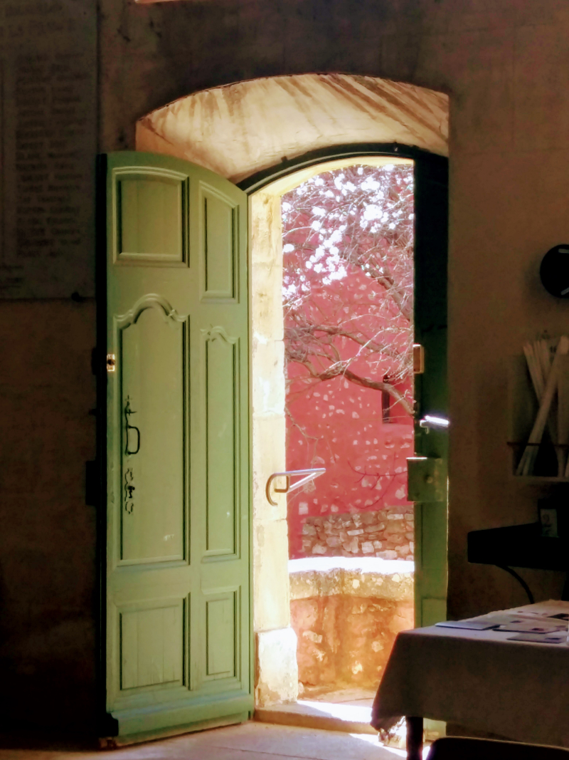 Church door in Roussillon France
