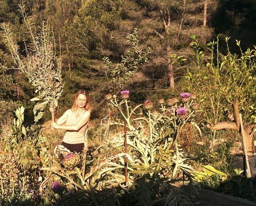 Kristi in the forest garden