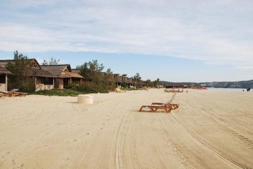 st tropez beach bungalow sand