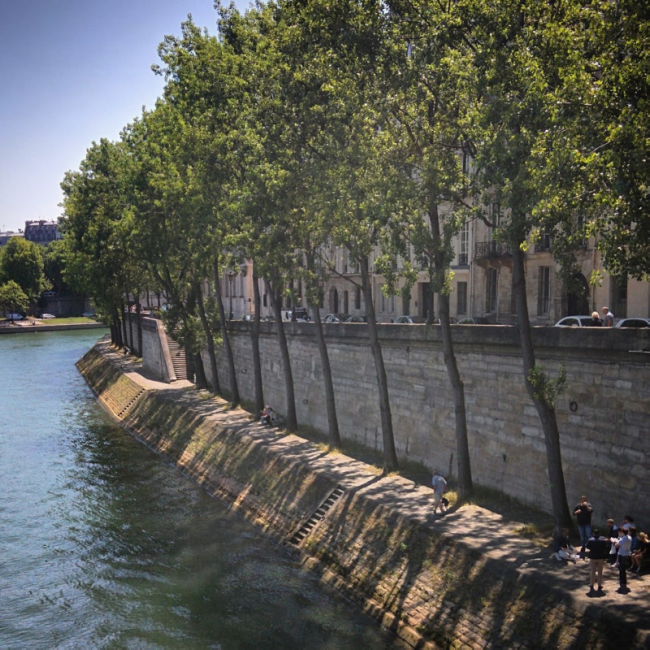 banks of Seine River in Paris France