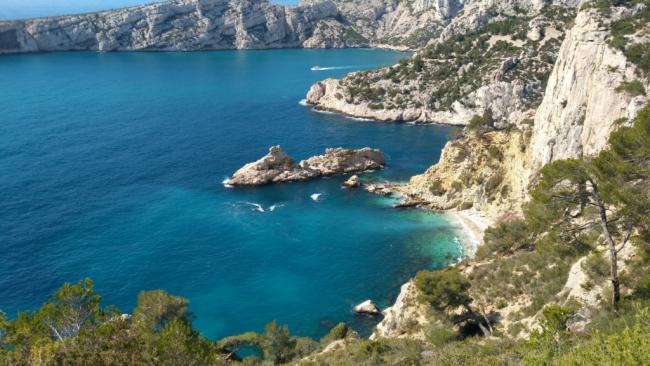 France, Marseilles, calanque de sugiton les culs nus nudist beach