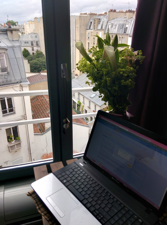 Writing in paris