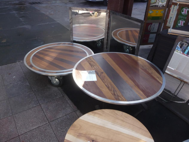 Coffee tables mirrors iron wood france