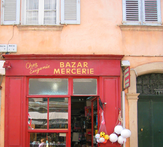 Shopfront in st tropez mercerie